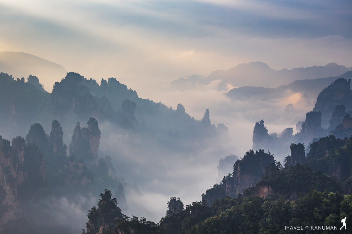Avatar mountains of Zhangjiajie - China